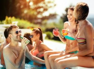 Poolside fun during your adult vacation